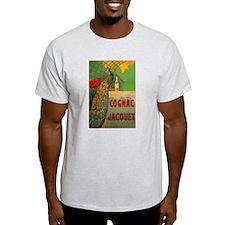 Vintage Cognac Wine Poster (Front) T-Shirt