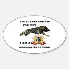 Unique German shepherd Sticker (Oval)