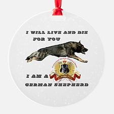 Unique German shepherd Ornament