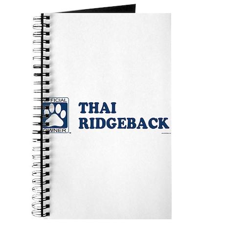 THAI RIDGEBACK Journal