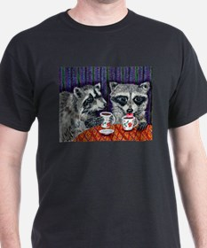 Raccoons at the Cafe T-Shirt