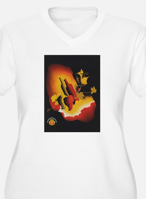 Vintage Spanish Wine Poster (Front) T-Shirt