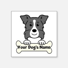 Personalized Border Collie Square Sticker 3""