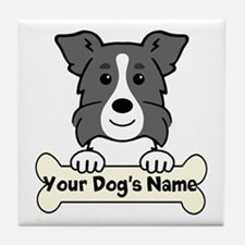 Personalized Border Collie Tile Coaster