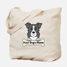 Personalized Border Collie Tote Bag
