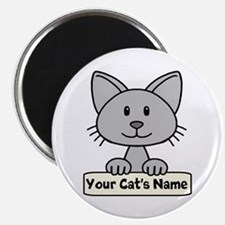 Personalized Gray Cat Magnet
