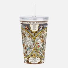 Vintage Constellations Acrylic Double-wall Tumbler
