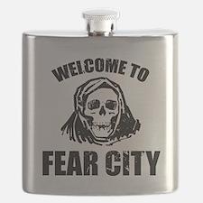 Cute New york city night Flask