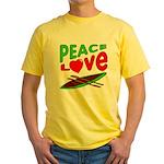 Peace Love Canoe Yellow T-Shirt