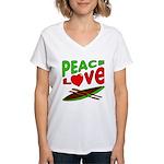 Peace Love Canoe Women's V-Neck T-Shirt