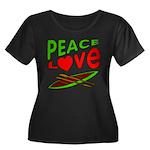 Peace Love Canoe Women's Plus Size Scoop Neck Dark