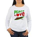 Peace Love Canoe Women's Long Sleeve T-Shirt
