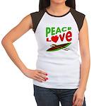 Peace Love Canoe Women's Cap Sleeve T-Shirt
