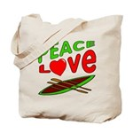 Peace Love Canoe Tote Bag