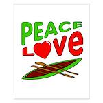 Peace Love Canoe Small Poster
