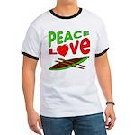 Peace Love Canoe Ringer T