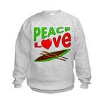 Peace Love Canoe Kids Sweatshirt