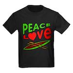 Peace Love Canoe Kids Dark T-Shirt