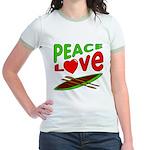 Peace Love Canoe Jr. Ringer T-Shirt