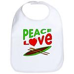 Peace Love Canoe Bib