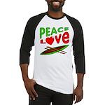 Peace Love Canoe Baseball Jersey