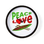 Peace Love Canoe Wall Clock