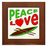 Peace Love Canoe Framed Tile