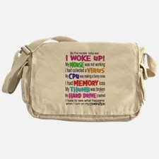 Getting old is Hell Messenger Bag