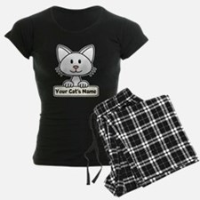 Personalized White Cat Pajamas