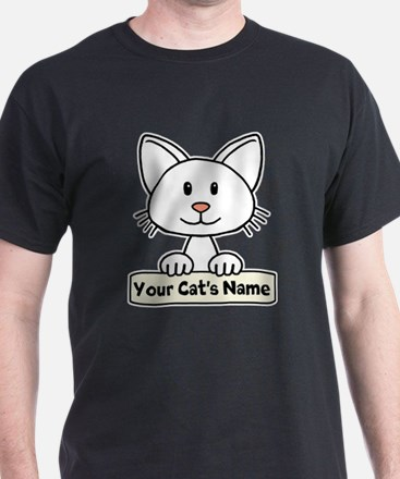 Personalized White Cat T-Shirt