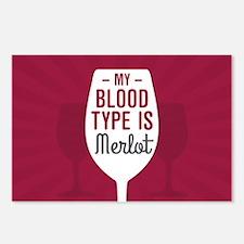 Merlot Blood Type Postcards (Package of 8)