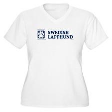 SWEDISH LAPPHUND Womes Plus-Size V-Neck T-Shirt