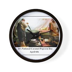 April 6th -- National Caramel Wall Clock