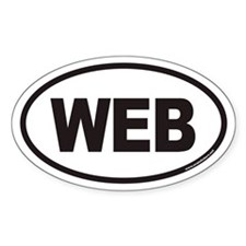 WEB Euro Oval Decal