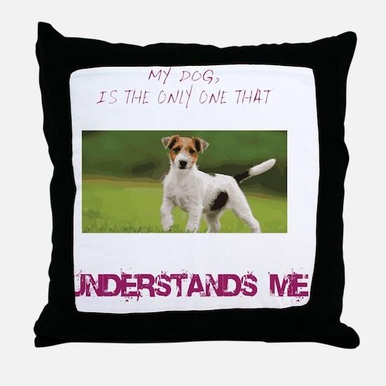 Cute Jack russell terrier Throw Pillow