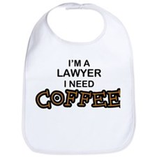 Lawyer Need Coffee Bib