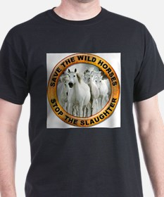 Save Wild Horses Ash Grey T-Shirt