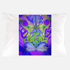 Abstract Cougar - Purple Pillow Case