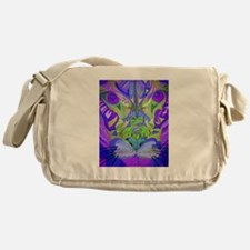 Abstract Cougar - Purple Messenger Bag