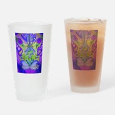 Abstract Cougar - Purple Drinking Glass
