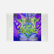 Abstract Cougar - Purple Magnets