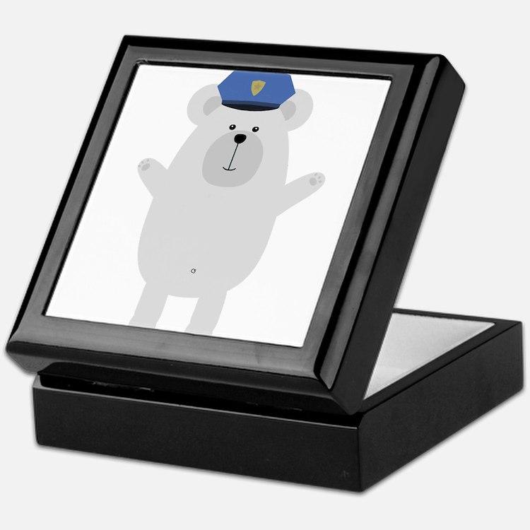 Happy Polar Bear Officer Keepsake Box