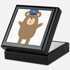 Happy Police Officer Bear Keepsake Box