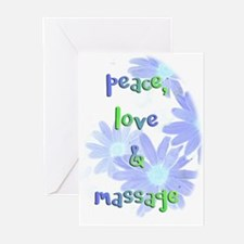 Peace, Love and Massage Greeting Cards