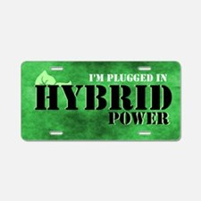 I'm Plugged In Hybrid Power Aluminum License P