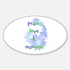 Peace, Love and Massage Decal