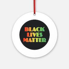 Black Lives Matter Round Ornament