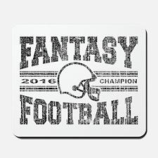 2016 Fantasy Football Champion Helmet Ch Mousepad