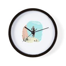 Cute Cree native american Wall Clock