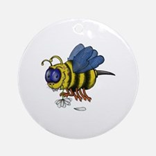 Cute Bee illustration Round Ornament